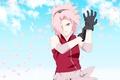 Picture Sakura, Naruto Shippuden, Haruno, powerful, pink, oriental, asiatic, flower, asian, sky, cloud, Hiouri-Nin, gloves, shinobi, ...