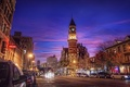 Picture new york, Village, 6th Ave and 9th St., Jefferson Market, NYC, new York, night, usa, ...