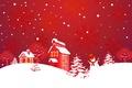 Picture winter, snow, snowflakes, Windows, home, snowman, smoke