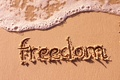 Picture sand, sea, beach, freedom, mood, the inscription, wave, freedom