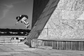 Picture jump, black and white, square, skateboarding, skateboard, extreme sports
