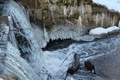 Picture in the winter, water, ice, waterfall, icicles, for, squirt
