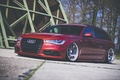 Picture red, wagon, Audi, stance, before