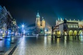 Picture the city, area, night, Poland, Krakow, Cathedral, lights