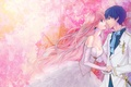 Picture art, abstraction, guy, pair, kaito, girl, aishiro22, megurine luka, vocaloid