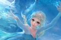 Picture snow, magic, ice, fanart, art, fanart, blizzard, art, girl, figure, girl, Elsa, by Yu-Han, Blizzard, ...