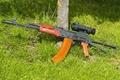 Picture Kalashnikov, grass, sight, machine, The AKS-74