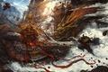 Picture battle, Zhichao Cai, dragon, magic, art, fantasy