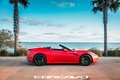 Picture machine, auto, Ferrari, auto, California, side, Wheels, Concave, Matte Red