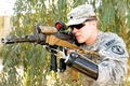 Picture military, war, scope, Soldier, Assault rifle, prothesis