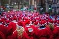 Picture run, Liverpool santa dash, Sea of Santas
