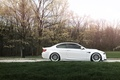 Picture road, white, trees, bmw, BMW, white, e92, the sky, grass, autumn