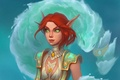 Picture red, MAG, Warcraft, WoW, World of Warcraft, girl, ears, Blood elf, elf