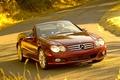 Picture mercedes sl 550 widescreen, road, machine, the wheel, cars, Mercedes, auto, girls