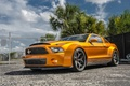 Picture Shelby, GT500, wide bodykit, muscle car, Super Snake, front, orange, Ultimate Auto, Vellano Wheels, Mustang, ...
