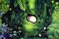 Picture girl, flowers, lies, leaves, Hayao Miyazaki, Nora, Hayao Miyazaki, Tonari no Totoro, my neighbor Totoro, ...