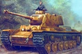 Picture figure, Germany, art, Heavy tank, Klim Voroshilov, 756(r), Pz.Kpfw. KV-1B, 75 mm KwK40 L48, the ...