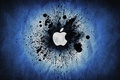 Picture Apple, Blue, Logo, Color, Brand, Blue Splatter, Splatter