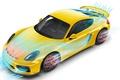 Picture Porsche Cayman GT4, yellow, aerodynamic test