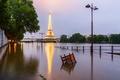 Picture Paris, Eiffel tower, flood, France