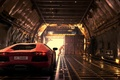 Picture Lamborghini, LP700-4, Aventador, Dubai, Orange, Rear, Supercar, Plane, Light
