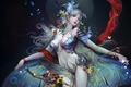Picture girl, the game, wings, art
