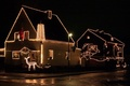 Picture decoration, Christmas, house, night
