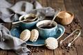 Picture coffee, grain, cookies, spoon, Cup, sugar, still life, dessert, cakes, sweet, set, glaze, Anna Verdina, ...