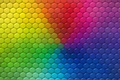 Picture colors, colorful, rainbow, texture, hexagons, reptile skin