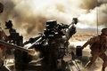 Picture Marines, M777, volley, 155 mm, soldiers, dust, artillery, Howitzer