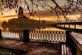 Picture bridge, river, Castle
