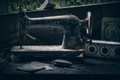 Picture the dust of ages, retro, sewing machine, rarity