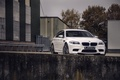Picture front view, BMW, BMW, white, trees, f10, white, the sky, building