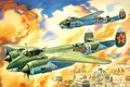 Picture WW2., art, the plane, Soviet, high speed, known, BBC, also, WWII, as, day, Bat, Tu-2S, ...