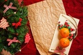 Picture balls, wreath, New Year, holidays, toys, tangerines, New Year, Christmas, fruit, decoration, Christmas
