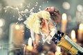 Picture girl, tube, champagne, Happy New Year 2016