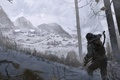 Picture Girl, Mountains, Snow, Forest, Bow, Art, Tomb raider, Lara croft, Siberia, Rise of the Tomb ...
