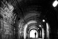 Picture depression, black and white, male, the tunnel, Melancholy, monochrome
