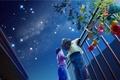 Picture Yutaka Kagaya, yutaka kagaya, holiday, children, night, starry sky