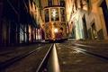 Picture night, rails, home, tram