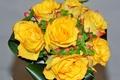 Picture bouquet, roses, bouquet, yellow