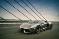 Picture bridge, speed, lamborghini, aventador