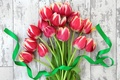 Picture flowers, bouquet, tape, tulips, fresh, flowers, tulips