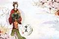 Picture flowers, Yukimura Chizuru, girl, characters, kimono, Hakuouki