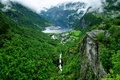 Picture Geirangerfjord, mountains, Geiranger, the fjord, panorama, Norway, Geiranger, liner, village, Ålesund, Norway