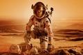 Picture sand, fiction, desert, planet, the suit, helmet, bag, Mars, Matt Damon, Matt Damon, Martian, The ...