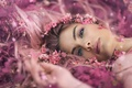 Picture makeup, flowers, wreath, Alessandro Di Cicco, Candy
