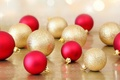 Picture balls, a lot, holiday, red, Christmas decorations, Christmas, new year, new year, gold, balls, christmas