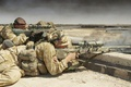 Picture Britain, sniper, on the position, soldiers, rifle