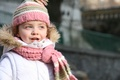 Picture children, child, city, the city, child, beautiful, cute, little girl, happiness, scarf, girl, stylish, children, ...
